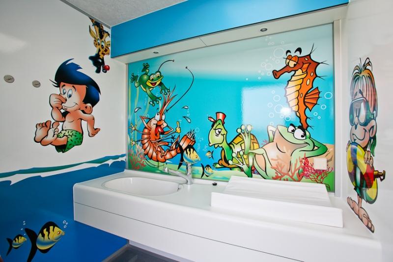 Kinderbadezimmer - De Driesprong, verhuur & camping Domburg